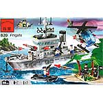 "Конструктор ""Фрегат - Frigate"" из серии Combat Zones - Brick Enlighten 820"