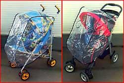 Дождевик силиконовый для колясок-тростей и прогулочных колясок.