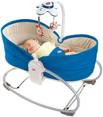 Шезлонг Tiny Love Rocker Napper 3-in-1 голубой